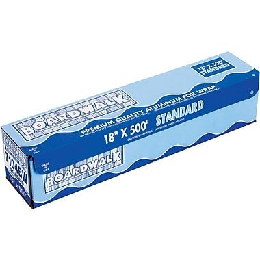 Boardwalk® Standard Aluminum Foil Roll, 500 ft L x 18