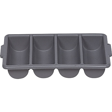 Rubbermaid® Cutlery Bin, Gray, 21 1/4in. L x 11 1/2in. W x 3 3/4in. H