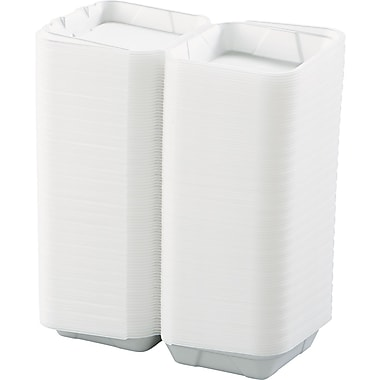 Boardwalk® Hinged Lid Carryout Container, Medium, 3in. H x 8in. W x 8in. D
