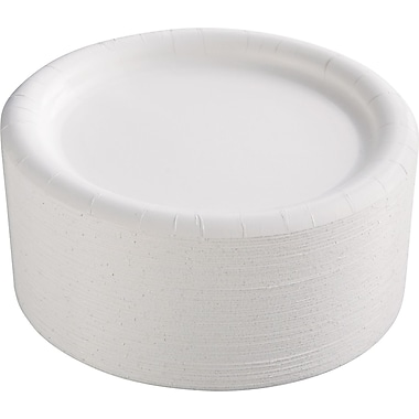 AJM Packaging Corporation® CP9AJCWWH14 Paper Plate, 9
