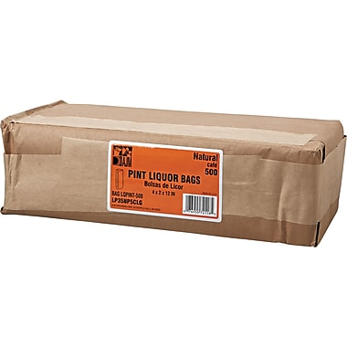 Boardwalk® Kraft Standard-duty Liquor Paper Bag, 35 lb, 11 1/4in. H x 3 3/4in. W x 2 1/4in. D