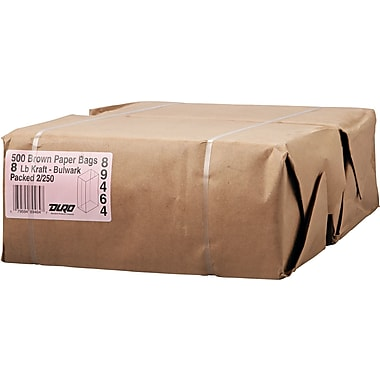Boardwalk® Kraft Heavy Duty Paper Bag, 57 lb, 12 7/16in. H x 6 1/8in. W x 4 1/6in. D