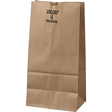 Boardwalk® Kraft Heavy Duty Paper Bag, 50 lb, 9 3/4in. H x 5in. W x 3 1/3in. D