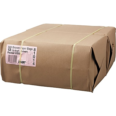 Boardwalk® Kraft Heavy Duty Paper Bag, 57 lb, 13 3/4in. H x 7 1/16in. W x 4 1/2in. D