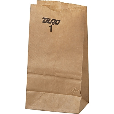 Boardwalk® Kraft Paper Bag, 30 lb, 6 7/8in. H x 3 1/2in. W