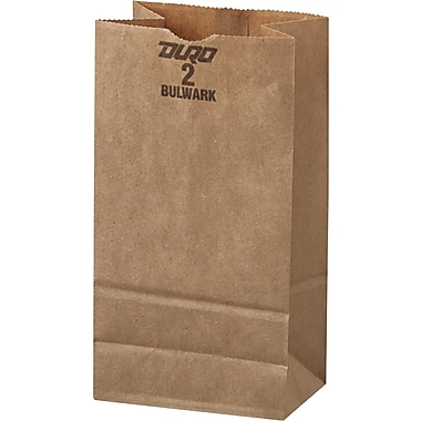 Boardwalk® Kraft Heavy Duty Paper Bag, 50 lb, 7 7/8in. H x 4 5/16in. W x 2 7/16in. D