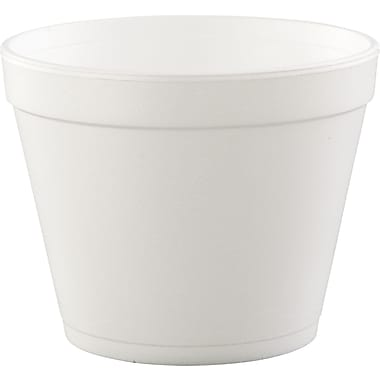 Dart® Food Container, 4in. H x 5in. Top dia x 3 1/2in. Base dia