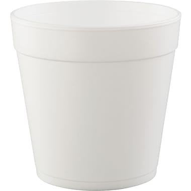 Dart® Food Container, 5in. H x 5in. Top dia x 3 3/5in. Base dia