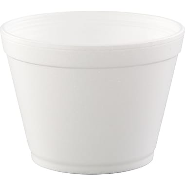 Dart® Heavy Duty Foam Container, White, 16 oz