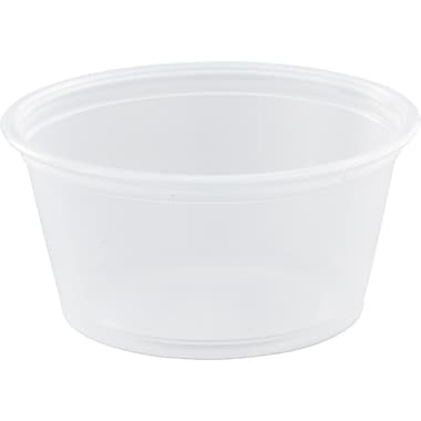Dart® Portion Container, 1 1/5in. H x 2 2/4in. dia Top x 1 4/5in. dia Base