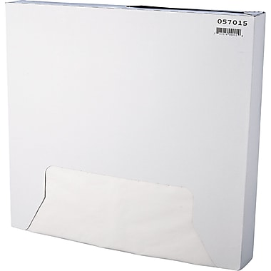 Bagcraft Papercon® 057015 Grease Resistant Paper Wrap/Liner, 16in.(L) x 15in.(W), White