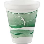 Horizon® Foam Cup, White/Green, 12 oz