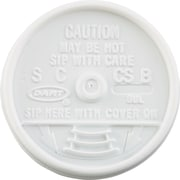 Dart® Sip Thru Lid, White, for 6 - 10 oz Foam Cups
