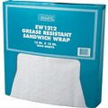 Bagcraft Papercon® 057012 Grease Resistant Paper Wrap/Liner, 12in.(L) x 12in.(W), White