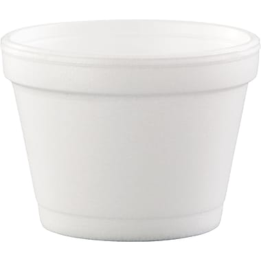Dart® 4J6 Foam Food Container, White, 4 oz., 1000/Case