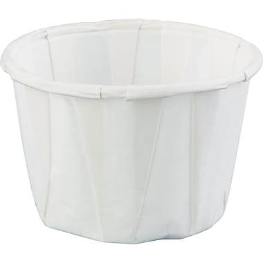 Genpak® Paper Portion Cup, White, 1 oz