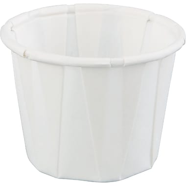 Harvest™ Pleated Portion Cup, White, 3/4 oz