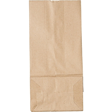 Boardwalk® Kraft Paper Bag, 35 lb, 10 15/16in. H x 5 1/4in. W x 3 7/16in. D
