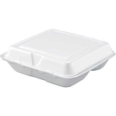 Dart® Hinged Lid Container, Small, 8in. L x 7 1/2in. W x 2 2/7in. H