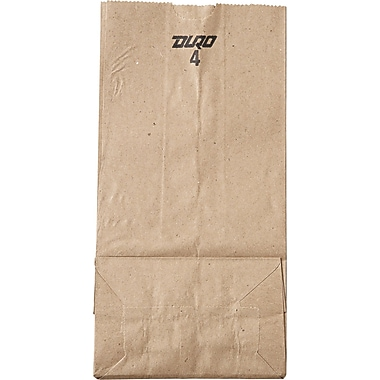 Duro Bag Kraft Paper 9.75in.H x 5in.W x 3.33in.D Food Bags, Brown, 500 Bags/Case