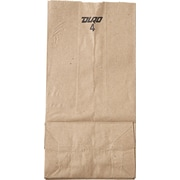 "Duro Bag Kraft Paper 9.75""H x 5""W x 3.33""D Food Bags, Brown, 500 Bags/Case"