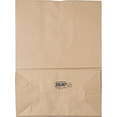 Kmi Supplies Grocery Paper Bag, Natural, 17in. H x 12in. W x 7in. D