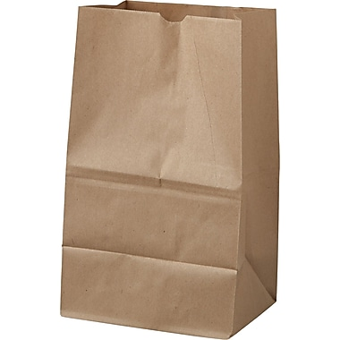 Boardwalk® Kraft Paper Bag, 40 lb, 14 3/8in. H x 8 1/4in. W x 5 15/16in. D
