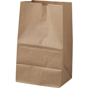 "Boardwalk® Kraft Paper Bag, 40 lb, 14 3/8"" H x 8 1/4"" W x 5 15/16"" D"