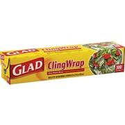 """Clorox® Glad® 00022 Food Cling Wrap, 300""""(L) x 12""""(W), Clear"""