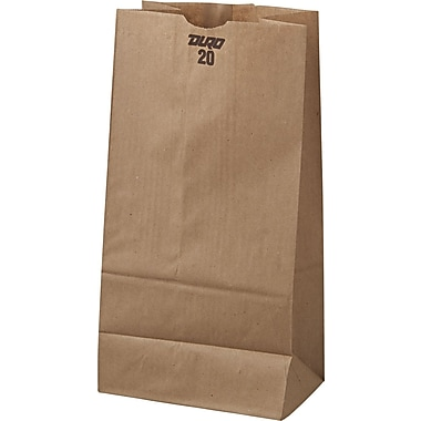 Boardwalk® Kraft Paper Bag, 40 lb, 16 1/8in. H x 8 1/4in. W x 5 5/16in. D