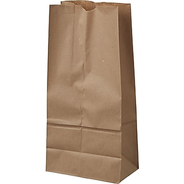 Boardwalk® Kraft Paper Bag, 40 lb, 16in. H x 7 3/4in. W x 4 13/16in. D