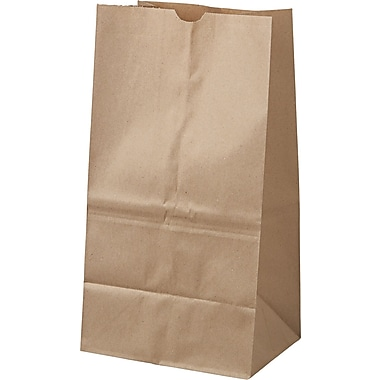 Boardwalk® Kraft Paper Bag, 40 lb, 15 7/8in. H x 8 1/4in. W x 6 1/8in. D