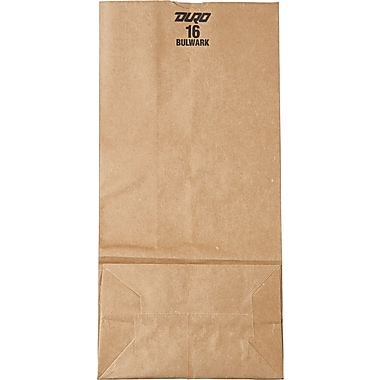 Boardwalk® Kraft Heavy Duty Paper Bag, 57 lb, 16in. H x 7 3/4in. W x 41 3/16in. D