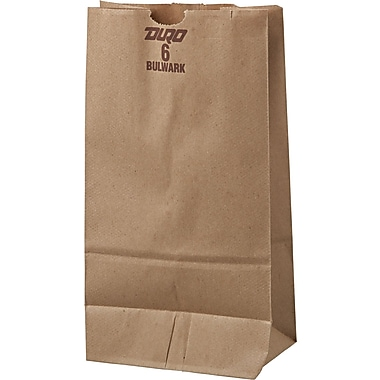 Boardwalk® Kraft Heavy Duty Paper Bag, 50 lb, 11 1/16in. H x 6in. W x 3 5/8in. D