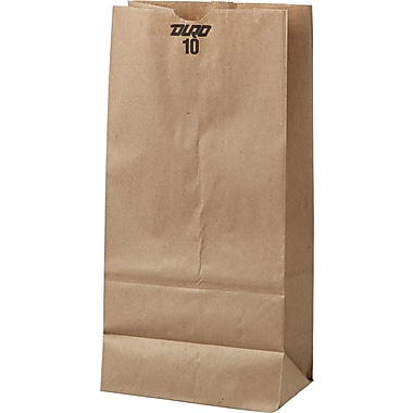 Boardwalk® Kraft Paper Bag, 35 lb, 13 3/8in. H x 6 5/16in. W x 4 3/16in. D