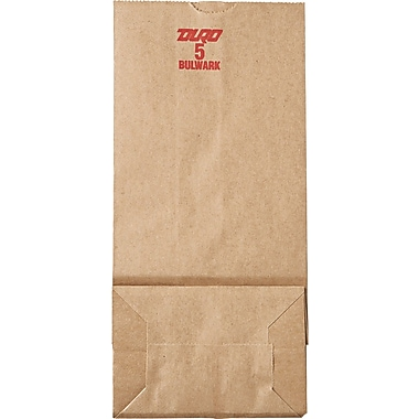 Boardwalk® Kraft Heavy Duty Paper Bag, 50 lb, 10 15/16in. H x 5 1/4in. W x 3 7/16in. D