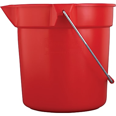 Rubbermaid® Brute® 2963 HDPE Round Bucket, Red, 10 qt.