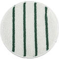 Rubbermaid® P271 Low Profile Scrub-Strip Carpet Bonnet, White/Green
