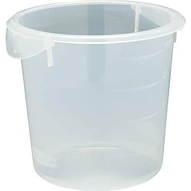 Rubbermaid® 572124 Round Storage Container, 4 qt, 7 3/4in.(H) x 8 1/2in.(Dia), Clear