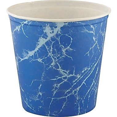 SOLO® Blue Marble Double Waxed Wrapped Paper Bucket, 165 oz
