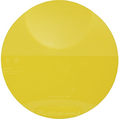 Rubbermaid® 5722 Round Storage Container Lid, 7/8in.(H) x 8 3/4in.(Dia), Yellow
