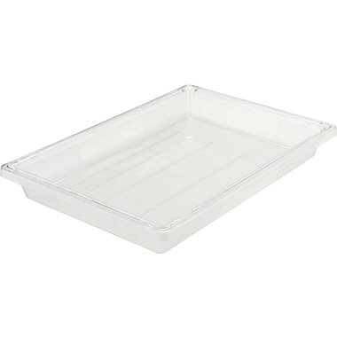 Rubbermaid® 3306 Food/Tote Box, 5 gal, 26in.(L) x 18in.(W) x 3 1/2in.(D), Clear