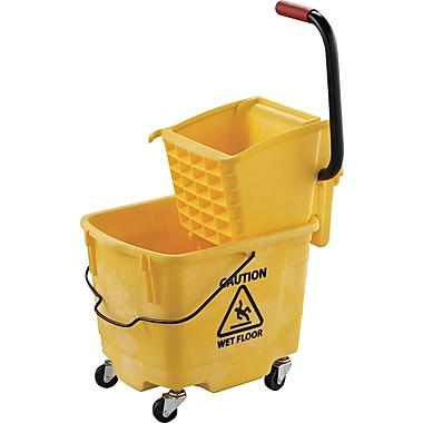 UNISAN® Pro-Pac™ 2635COMBO Plastic/Metal Side-Squeeze Wringer/Bucket Combo, Yellow