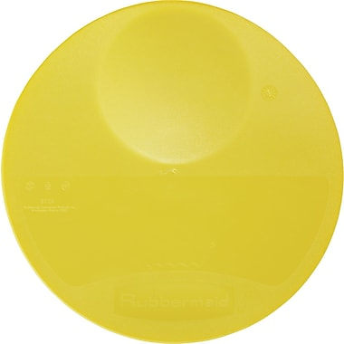 Rubbermaid® 5725 Round Storage Container Lid, 1in.(H) x 10 1/4in.(Dia), Yellow