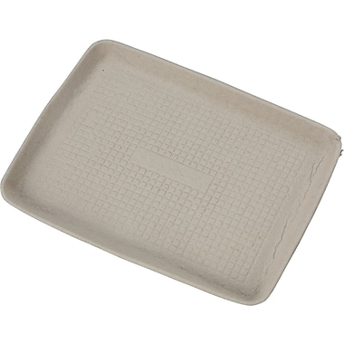 Chinet® StrongHolder® Molded Fiber Flat Foot Tray, 9in. x 12in. x 1in.