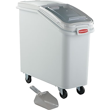 Rubbermaid® Ingredient Mobile Bin with Sliding Hinged Lid, 29 1/4