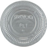 SOLO® No-slot Plastic Cup Lid, Clear, For 3/4 - 1 1/2 oz Cups