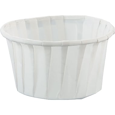 SOLO® Treated Paper Souffle Portion Cup, White, 4 oz