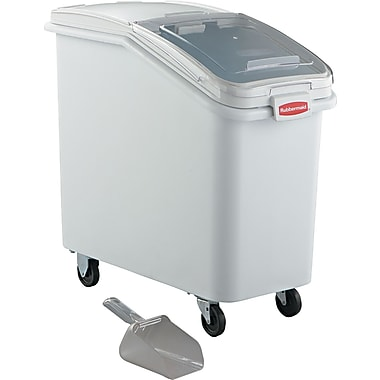Rubbermaid® Ingredient Mobile Bin with Sliding Hinged Lid, 29 1/2