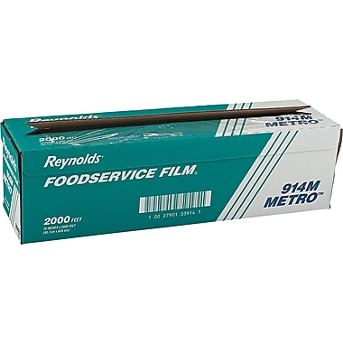 Reynolds Wrap® 914M Metro Light-Duty PVC Film, 2000'(L) x 18in.(W), Clear